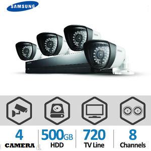 Image: SAMSUNG Kit tout-en-un avec DVR 8 canaux  + 4 caméras